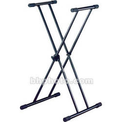 QuikLok T20 X-Style Double Brace Keyboard Stand with Dino-Bite Locking Disc
