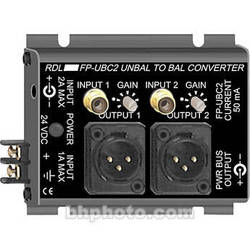 RDL 2-Channel Unbal to Balanc Audio Converter