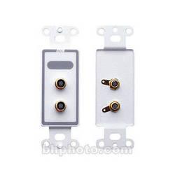 RDL D-PHN2 Dual Female Phono Jacks on D Plate (Solder Type)