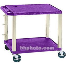 "Luxor WT26E-P Tuffy Open Shelf A/V Cart (24.5 x 24 x 18"") (Purple with Putty Legs)"