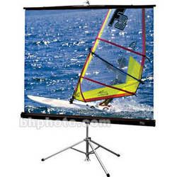 """Draper Diplomat/R Portable Tripod Projection Screen - 50 x 50"""" - Matte White"""