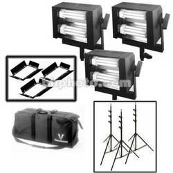 Videssence Baby Base Fluorescent 3 Light Kit - Dimmable