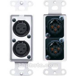 RDL D-XLR2F Decora Wall Plate with Dual XLR 3-Pin Female Connectors (White)