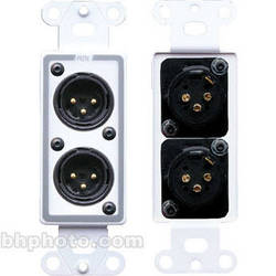 RDL D-XLR2M Decora Wall Plate with Dual XLR Male Connectors (White)
