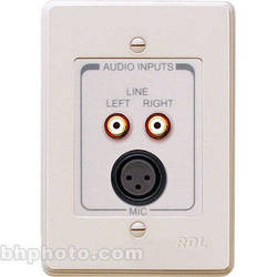 RDL RCX-J3N Complete Audio Input Panel Assembly (White with Gray)