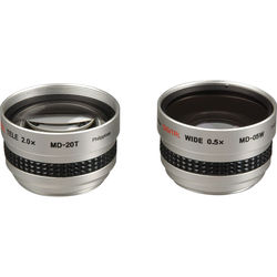 Kenko MD205S 2.0x Telephoto & 0.5x Wide Angle Lens Kit