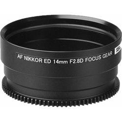 Sea & Sea Focus Gear for Nikon Ai AF NIKKOR ED 14mm f/2.8D Lens in Port on MDX Housing