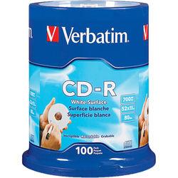 Verbatim CD-R 700MB White Disc (100)