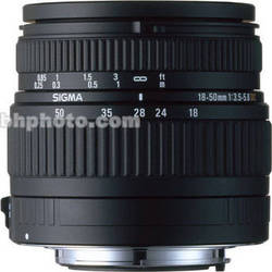 Sigma 18-50mm f/3.5-5.6 DC Lens for Pentax Digital AF