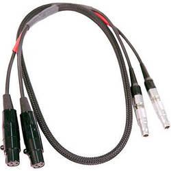 "Remote Audio CAZTA3LELS Dual TA3F to Dual 4-Pin Lemo Cable for Zaxcom (18"")"