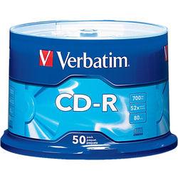 Verbatim CD-R 700MB Disc (Spindle Pack of 50)