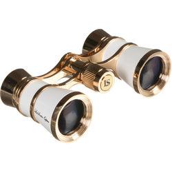 LaScala Optics 3x25 Aida Opera Glass (White & Gold)