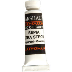 """Marshall Retouching Oil Color Paint/Extra Strong: Sepia - 1/2x2"""" Tube"""