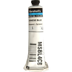"Marshall Retouching Oil Color Paint: Chinese Blue - 3/4x4"" Tube"