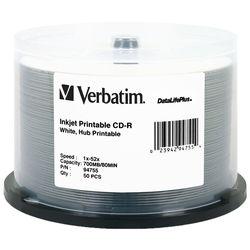 Verbatim CD-R White Inkjet Printable Disc (50)