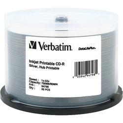 Verbatim CD-R Silver Inkjet Printable Disc (50)