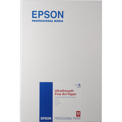 """Epson UltraSmooth Fine Art Paper (13 x 19"""", 25 Sheets)"""