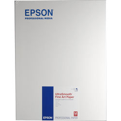"Epson UltraSmooth Fine Art Paper (17 x 22"", 25 Sheets)"
