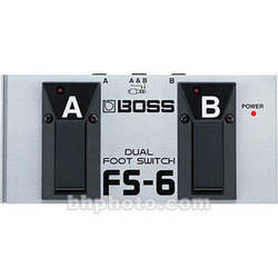 BOSS FS-6 - Dual Latch and Momentary Footswitch Pedal