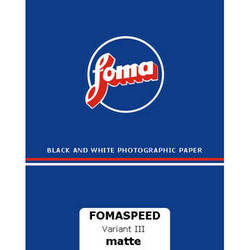 """Foma Fomaspeed Variant 312 VC RC Paper (Matte, 8 x 10"""", 100 Sheets)"""