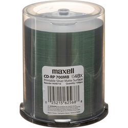 Maxell CD-R 700MB Silver Inkjet Disc (100)