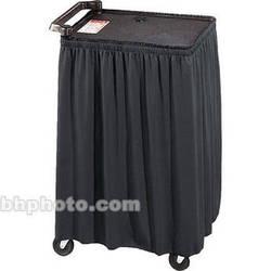 """Draper Skirt for Mobile AV Carts/Tables - 38 x 84""""- Black Classic Twill"""