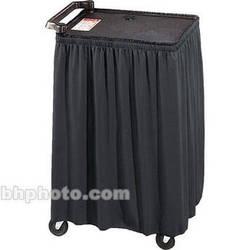 """Draper Skirt for Mobile AV Carts/Tables - 50 x 116""""- Black Classic Twill"""