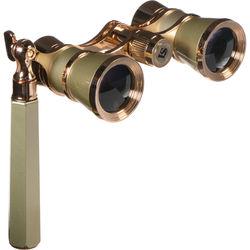 LaScala Optics 3x25 Iolanta Opera Glasses (Titanium & Gold)