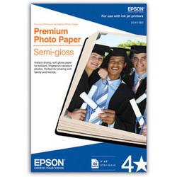 """Epson Premium Photo Paper Semi-Gloss (4 x 6"""", 40 Sheets)"""