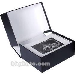"""Archival Methods Onyx Portfolio Box (20.25 x 24.25 x 3"""", Black Buckram/White)"""
