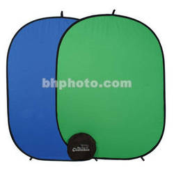 "Photogenic Chameleon Collapsible Reversible Background - 57x77"" - Chroma Blue/Green"