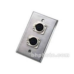 Neutrik 203F Wallplate w/Dual 3-Pin XLR-F Connectors