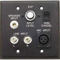 Pro Co Sound AVP-1V - Wallplate Audio/Video Interface w/Volume Control - Black