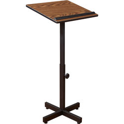 Oklahoma Sound Portable Presentation Lectern (Medium Oak Laminate)