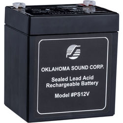 Oklahoma Sound PS12V 12V/5amp Rechargeable Battery Pack (Black)