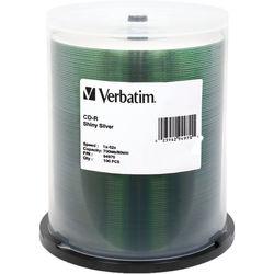 Verbatim CD-R Silver Silk Screen Disc (Spindle Pack of 100)