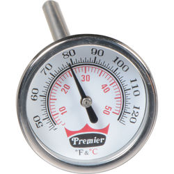 """Doran TFC Precision 1.75"""" Dial Thermometer with 6"""" Stem"""