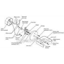 ETC Black Canopy Mounting Kit