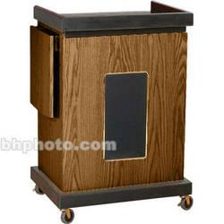 Oklahoma Sound Smart Cart Lectern with Sound System (Medium Oak)