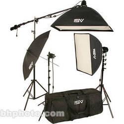 Smith-Victor K75 2-Light 2200W Professional Studio Soft Box Kit with Umbrella (120V)