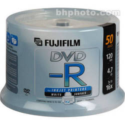 Fujifilm DVD-R 4.7GB 16x White Inkjet Hub (50)