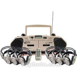 Califone 2395IRPLC-6 6-Person Wireless Cassette Player/Recorder