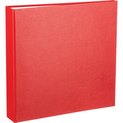"""Archival Methods 17-5011 Collector Grade Ring Binder (1.5"""" O-Ring, Red)"""