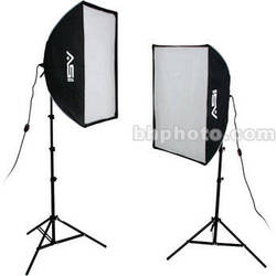 Smith-Victor KSBQ-2000 2,000 Watt Pro SoftBox Light Kit (120V)