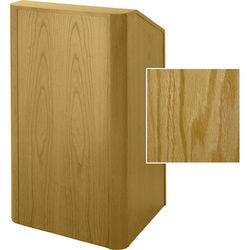 Sound-Craft Systems Floor Lectern Rounded Corners (Natural Oak)