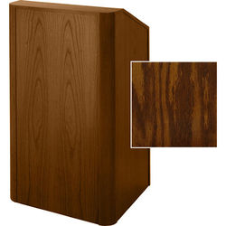 Sound-Craft Systems Floor Lectern Rounded Corners (Dark Oak)