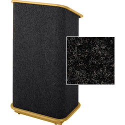 Sound-Craft Systems CFL Floor Lectern (Charcoal /Natural Oak)