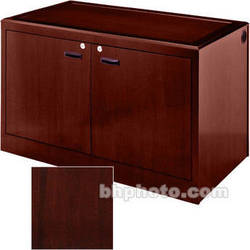 Sound-Craft Systems 2-Bay Equipment Credenza - Veneer/Dark Mahogany