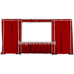 """The Screen Works Trim Kit for the E-Z Fold Truss 8'6""""x11' Projection Screen - Burgundy"""