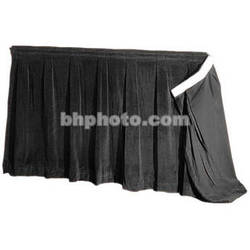 """The Screen Works 48"""" Skirt for E-Z Fold Truss Projection Screen-10x13'- Black"""